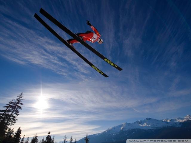 skiing jump-wallpaper-640x480