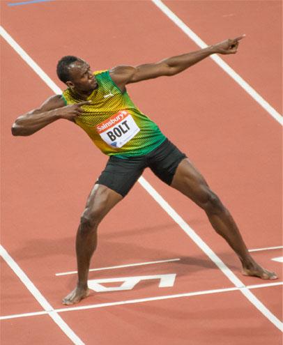 Usain Bolt Anniversary Games London 2013